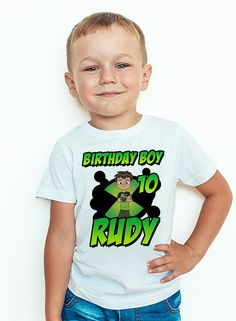 Personalized Ben 10 Birthday T-Shirt Custom Name and Age Ben