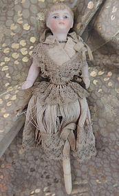 Antique Doll Rattle, German Bisque, 6 1/2 IN - Ashley's Dolls #dollshopsunited