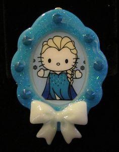 Kawaii Kitty Elsa Chibi Necklace Pendant by chalupascornernook