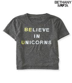 Unicorns Crop Graphic T