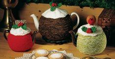 Christmas tea cosies