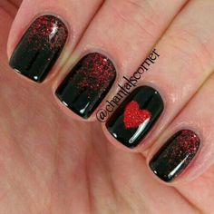 100 Perfect Matte Glitters Nail Art Designs for the Valentine's Day