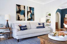 Mid-century/rustic/traditional living room – Ginny Macdonald