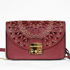 Crossbody Bags · Korean Style Leather Small Hollow Out Carved Rivets Women  Mini Bag Retro Messenger Shoulder Bag Purse ba3c17fee2f44