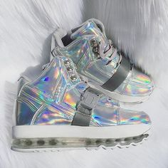 Dang these #YRU sneakers are the epitome of future-fashion. Ladies you could really light up the club with these. Check out these and more in women's footwear at #Karmaloop #futurefashion