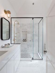 Shower floor tile.