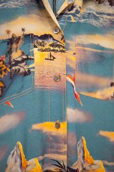 Print detail on Jean Paul Gaultier Hawaii Day Dress. Shop all Jean Paul Gaultier here. Photo by Anna Mackenzie Vintage Hawaiian, Hawaiian Print, Opening Ceremony, Cool Patterns, Jean Paul Gaultier, Day Dresses, Tumblr, Cool Stuff, Detail