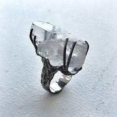 Chunky clear Quartz #jewellery #ring