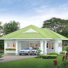 house design home House Roof Design, Small House Design, Cool House Designs, Modern House Design, Bungalow Haus Design, Modern Bungalow House, Bungalow House Plans, My House Plans, Modern House Plans