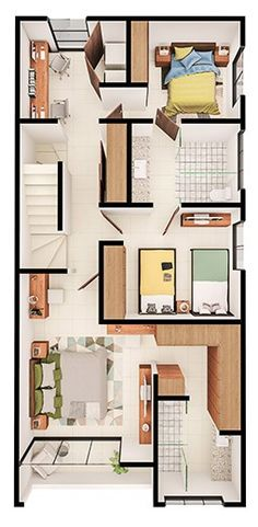 dream Homes em Maryland House Layout Plans, House Layouts, House Floor Plans, Home Room Design, House Design, House Map, House Elevation, Plan Design, Home Hacks