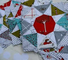 blocks by hanies, via Flickr  --Cute block--great use of fabrics