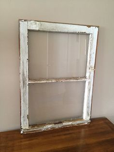 """Vintage/Antique WINDOW SASH ~ Architectural Salvage - 27.25"""" X 20"""""""