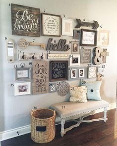 DIY Farmhouse Style Decor Ideas - Entryway Gallery Wall - Rustic Ideas for Furni.DIY Farmhouse Style Decor Ideas - Entryway Gallery Wall - Rustic Ideas for Furniture, Paint Colors, Farm House Decoration for Living Room, Kitchen and. Decor, Furniture, Entryway Gallery Wall, Farm House Living Room, Interior, Living Room Decor, Home Decor, Rustic Home Decor, Living Decor