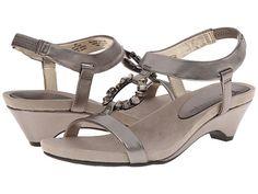 Anne Klein Anne Klein  Tycho Pewter Metallic Leather Womens Sandals for 34.99 at Im in!