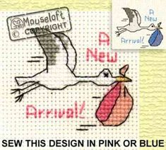 Special Occasions Cross Stitch Kit - New Baby Stork