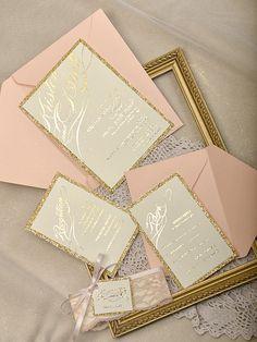 Gold Glitter Wedding by forlovepolkadots on Etsy