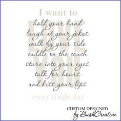 Wall Decal I want to love you every day by bushcreative on Etsy, $45.00