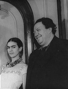 Frida Kahlo and Diego Rivera  by Carl Van Vechten  1932