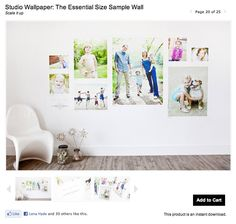 A fabulous idea from Design Aglow an ProDPI: print a huge wall cling showing the different relative sizes of wall prints.