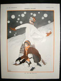 Art Deco print from La Vie Parisienne magazine, 1923