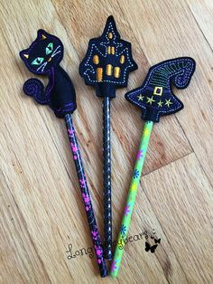 Felt Pencil Toppers with Pencils Included Pencil Toppers