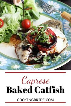Liven up your weekday dinner with these quick but delicious seasoned baked catfish fillets topped with melted cheese, tomato and fresh basil.