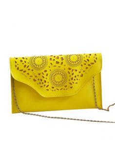 Classic Girls Hollow Design Chain Strap Single Shoulder Small Clutch Bag I170Z