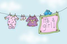 Free Dearie Dolls Digi Stamps: Cheryl, here are the new baby clotheslines you were looking for. Hand Embroidery Patterns Free, Baby Shower Deco, Handmade Gifts For Friends, Baby Sheets, Baby Journal, Baby Clip Art, New Baby Cards, Baby Scrapbook, Clothes Line