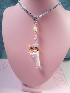 Milk and Cookies Kawaii Charm Necklace. $16.00, via Etsy.