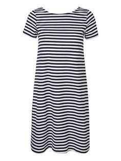 Study in style - Oversized striped dress #veromoda