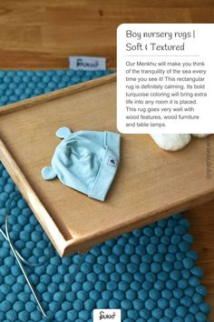 Looking for a pop of colour for your baby boy's nursery? Look no further than the gorgeous, soft