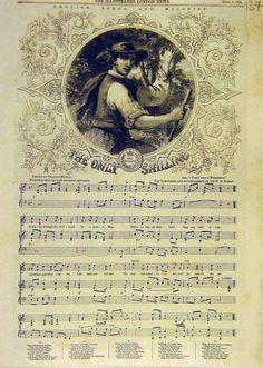 Antique musical score