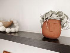 Floating shelf decor    decor for open shelving    floating shelves    air plant    face vase    terracotta vase #afflink Floating Shelf Decor, Moroccan Decor, Shelfie, Bedroom Decor, Kids Bedroom, Bohemian Decor, Open Shelving, Cheap Home Decor, Terracotta