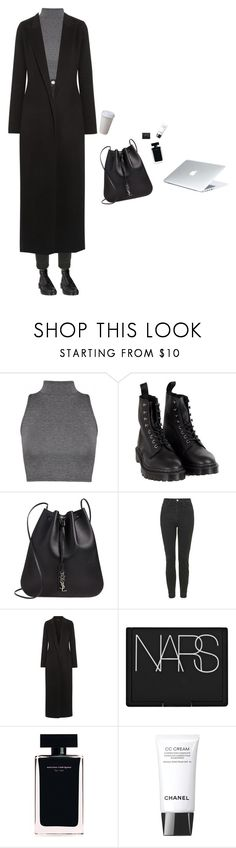 """LONDON"" by djulia-tarasova ❤ liked on Polyvore featuring Dr. Martens, Yves Saint Laurent, Topshop, The Row, NARS Cosmetics, Narciso Rodriguez and Chanel"