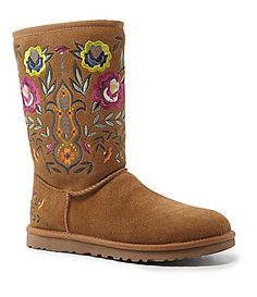 UGG Australia Womens Juliette Embroidered Boots #Dillards size 10
