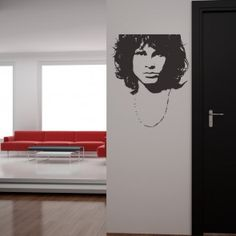 Jim Morrison USA Musician Icons & Celebrities Wall Stickers Home Decor Art Decal