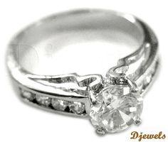 Diamond Ladies Ring in Hallmarked White Gold [Rs    65,080]