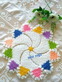 My dashboard- Benim pano My dashboard - Crochet Motifs, Crochet Stitches, Easy Knitting Patterns, Crochet Patterns, Home Flowers, Diy Crafts For Gifts, Crochet Baby Booties, Chrochet, Crochet Flowers