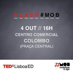 Hoje foi dia de...Flash#Mob no Colombo!   #tedxlisboa #tedxlisboaed #mob