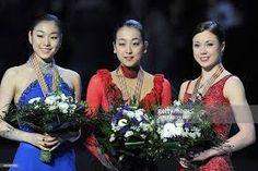 Mao Asada (🇯🇵), Kim Yuna (🇰🇷), and Laura Lepistö (🇫🇮)  2010 Torino 🇮🇹