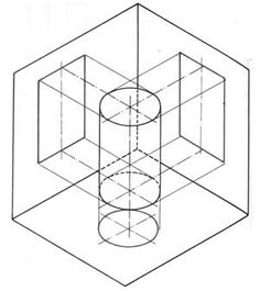 Dibujo técnico básico Isometric Sketch, Isometric Cube, Cube Design, Cad Drawing, Technical Drawing, Autocad, Art Techniques, Architecture, Geometry