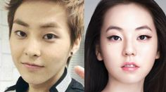 Top Korean Celebrity Look-Alike  EXO's Xiumin & Wonder Girls' Sohee