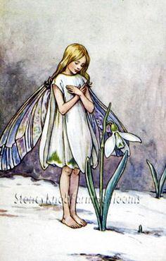 Snowdrop Flower Fairy ~ Fairies ~ Cross Stitch Pattern #StoneyKnobFarmHeirlooms #Frame