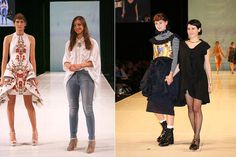 Left: Natalia Grzybowski and one of her designs at ID Dunedin International Emerging Designers, March 29, 2012.