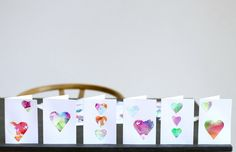 Tissue Paper Painting – Valentine's Day Cards