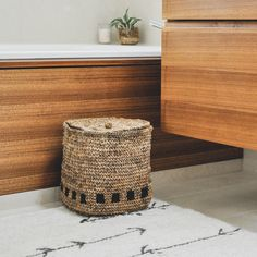 Made using natural banana plant fibers, our black square storage basket is delicately crocheted by master artisans in India. Organize any room with this elegant and unique woven basket. Basket Weaving, Hand Weaving, Blanket Basket, Banana Plants, Plant Fibres, Square Blanket, Black Square, Unique Colors, Storage Baskets
