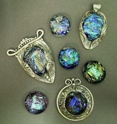 Ilove the shimmer & sparkle of fused dichroic glass. I also love the cool sheen of pure silver. When the two are combined, it's truly a match made in heaven. The color and sparkle of the glass adds dramatic impact to the silver. The silver...
