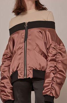 Loéil Farrow Bomber Jacket, $262, available at Loéil. #refinery29 http://www.refinery29.com/bomber-jacket-women#slide-18
