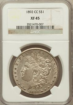1892 CC Morgan Dollar NGC XF45 - CARSON CITY. Available now at Finger Lakes Numismatics. Visit our store or contact us at (585) 490-0018 or email us at certifiedcoinsforcollectors@gmail.com