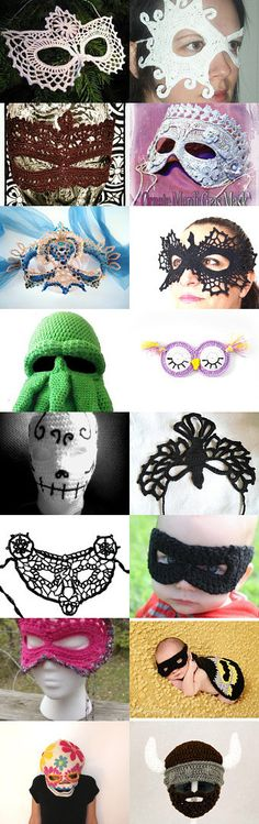 Stunning crochet masks by Christine Doyle on Etsy--Pinned with TreasuryPin.com